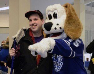 Eric Seguin - lucky winner of tickets to Leafs home opener.